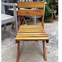 Ghế gỗ mini xếp dành cho cà phê ban công hoặc sân vườn, ghế câu cá
