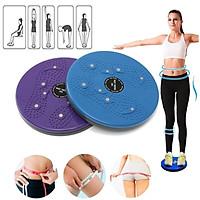 Đĩa xoay eo tập thể dục 360 độ bàn xoay tập cơ bụng cho eo thon tại nhà và phòng gym có hạt massage bàn chân