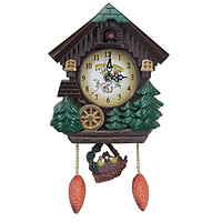 Vintage Cuckoo Wall Clock, Intelligent Tell Time Alarm Clock  Decorative Clock for Children Room
