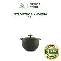 Nồi sứ dưỡng sinh Minh Long - Vesta 0.4 L + nắp dùng cho bếp gas, bếp hồng ngoại