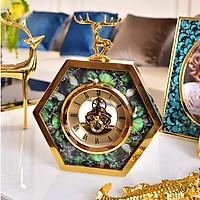 Đồng hồ để bàn siêu xinh - Viền vàng.