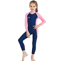Bộ bơi liền dài than tay hồng bé gái từ 2 đến 11 tuổi