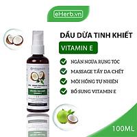 Dầu Dừa Ép Lạnh Tinh Khiết Nguyên Chất Dưỡng Da - Tóc - Môi MILAGANICS 100ml (Chai)