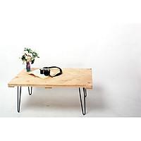Bàn trà / Bàn uống nước ngồi bệt vân gỗ chéo trang trí phòng khách
