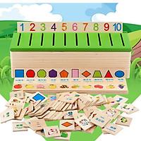 Giáo cụ Montessori - Hộp phân loại theo chủ đề bằng gỗ