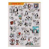 Bộ 4 Tấm Sticker Trang Trí - Hình Chú Chó