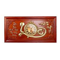 Đồng Hồ Treo Tường Chữ Lộc Mạ Vàng