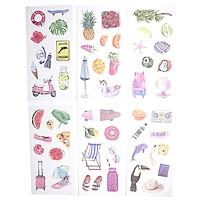 Sticker Dán Trang Trí ( Bộ 6 Tấm ) - Summer