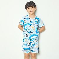 Bộ đồ ngắn tay mặc nhà cotton giấy cho bé trai U3017 - Unifriend Hàn Quốc, Cotton Organic
