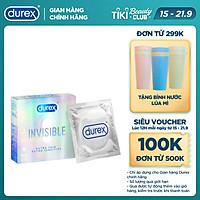 Bao cao su Durex Invisible Extra Thin Extra Sensitive 1 Hộp 3 Bao
