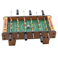 Bàn Bi Lắc mini 6 tay cầm, dài 50cm nặng 1.8kg chống trượt – Trò chơi bàn đá banh bàn Foosball Table + Tặng Bóng bi lắc 36mm dự phòng cho Bạn thoải mái ghi bàn - Giao màu ngẫu nhiên