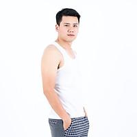 ÁO THUN BA LỖ NAM màu trắng khỏe khoắn