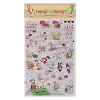 Bộ 6 Tấm Sticker Trang Trí - Hong-E & Dding-Gu FF013