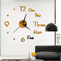 Đồng hồ 3D dán tường cao cấp DIY số và chữ DH81 kiểu dáng hiện đại