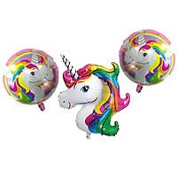 combo bong bóng pink rainbown Unicorn