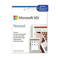 Phần mềm Microsoft 365 Personal English APAC EM Subscr 1YR Medialess P6 (QQ2-00983) - Hàng Chính Hãng