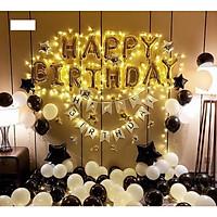 Set bóng trang trí sinh nhật Happy Birthday + bóng nhũ+ bóng TIM sao