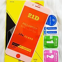 Kính Cường Lực 21D cho IPHONE 7 PLUS - 8 PLUS Full Keo Màn Hình 21D SIÊU BỀN, SIÊU CỨNG, ÔM SÁT MÁY  CAPARIES CHÍNH HÃNG