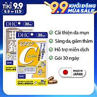 Combo NGỪA MỤN - GIẢM THÂM DHC Nhật Bản gồm viên uống vitamin C và viên uống kẽm 30 ngày JN-DHC-CB2