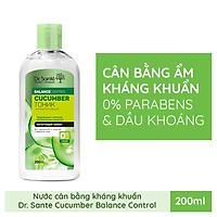 Nước cân bằng Dr.Sante Cucumber Balance Control kháng khuẩn dành cho da hỗn hợp 200ml