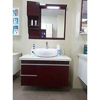 Mẫu tủ lavabo đẹp bằng nhựa LBK207