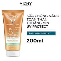 Kem Chống Nắng Toàn Thân Vichy Dạng Gel Sữa Không Gây Nhờn Rít Capital Soleil Wet Skin Gel SPF 50+++ 200ml