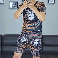 Bộ quần áo nam vải thun,bộ thể thao,bộ mặc nhà nam in họa tiết 3D-02D