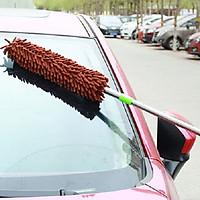 Cây chổi phất trần lau nội thất xe hơi ô tô siêu thấm hút có thể kéo dài (Giao màu ngẫu nhiên)