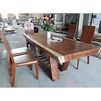 bộ bàn ăn chữ nhật 5 ghế đơn