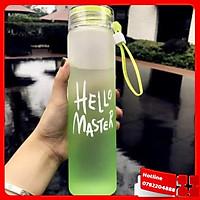 Bình Nước Thủy Tinh Hello Master - Loại Tốt