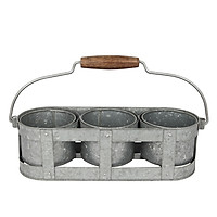Giỏ đựng đồ có quai xách 3 ngăn LT Monote, chất liệu sắt tấm