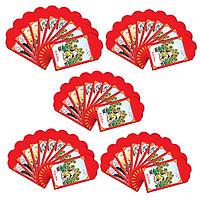 Combo 50 cái bao lì xì nhỏ + tặng 20 thẻ treo cành mai/đào (mẫu ngẫu nhiên)-BLX02