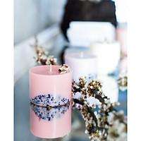 Nến thơm sáp đậu nành cao cấp khảm đá tự nhiên, mùi hương ngọt ngào của ylang ylang (hoa ngọc lan)