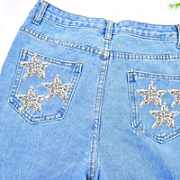6PCS Rhinestone Star Patches Appliques Iron on Sew-on Appliques Patch Clothing Repair Decoration Patches for DIY Accessory