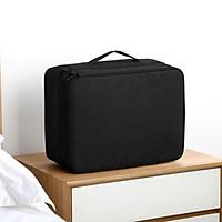 Túi đựng tài liệu A4, túi lưu trữ hồ sơ sổ sách giấy tờ đất đai cỡ lớn, túi nhiều ngăn có quai xách tiện lợi