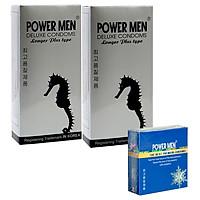 Combo Bao cao su Powermen 2 hộp Longer Plus 12 chiếc và 1 hộp 3 chiếc