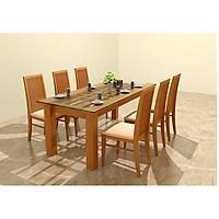 Bộ bàn ăn gỗ sồi 6 ghế