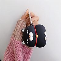 Bao Case Cho Airpods Pro / Airpods 1 / Airpods 2 Hình Mèo Asuma Đen