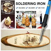 7pcs Wood Burning Pen Tool Soldering Iron Kit Pyrography Craft Tips Tool Set 60W