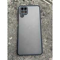 Ốp lưng nhám mờ cho Samsung Galaxy A12 chống sốc, bảo vệ Camera (đen)