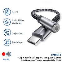 Hàng chính hãng - Cáp Chuyển Đổi Type C Sang Aux 3.5mm Cao Cấp CM0011 JSAUX - Bộ chuyển đổi Cho Macbook, Laptop, Điện thoại Samsung, Oppo,