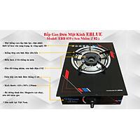 Bếp Gas Đơn Mặt Kính eBlue- (Điếu Inox)- EBB039- Hàng Chính Hãng