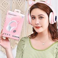 Tai Nghe MÈo Bluetooth chụp tai phát sáng âm nhạc đỉnh cao kết nốt không dây  và có dây AUX tiện lợi cute