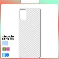 Miếng Dán Dẻo Mặt Lưng Vân Cacbon Dành Cho Samsung Galaxy M51- Hàng Chính Hãng