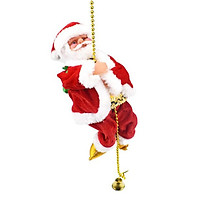 Santa Claus Climbing Beads Battery Operated Electric Climb Up and Down Climbing Santa with Light and Music Christmas