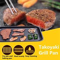 24 Holes Takoyaki Grill Pan Plate Cooking Octopus Ball Kitchen Maker Baking Mold