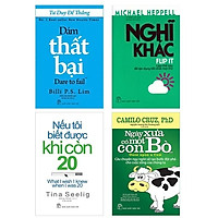 Combo 4 Cuốn Sống Đời Bức Phá: Nếu tôi biết được khi còn 20 + Nghĩ khác - Làm thế nào để tận dụng tốt nhất mọi thứ + Dám thất bại + Ngày xưa có một con bò