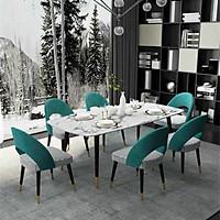 Bộ bàn ăn mặt đá 1m6 kèm 6 ghế Saarinen