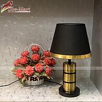 Đèn Bàn Phòng Ngủ - Đèn Để Bàn Chao Vải Đen, Tặng Kèm Bóng LED 3W MB6408