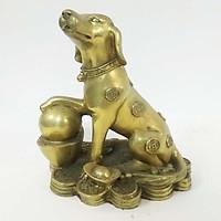 Tượng chó đồng ngồi tiền vàng